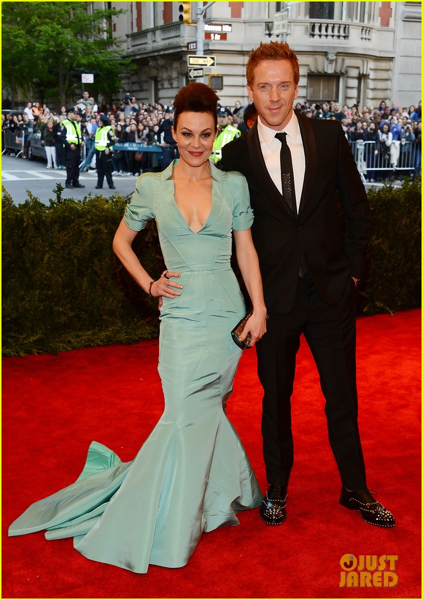 damian lewis morgan saylor met ball 2013 red carpet 092865804