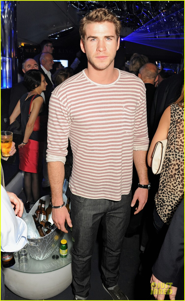 liam hemsworth parties at cannes miley cyrus plaid recording session 012872643