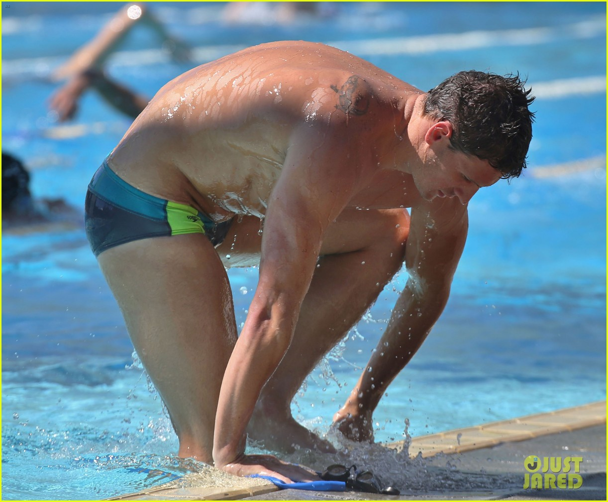 ryan lochte shirtless speedo stud for mel zajac jr meet 04