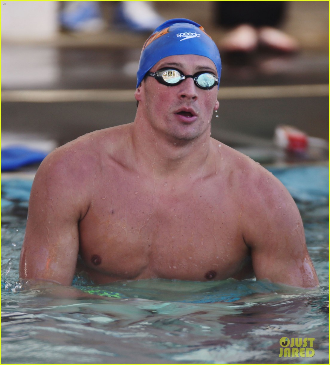 ryan lochte shirtless speedo stud for mel zajac jr meet 142878247