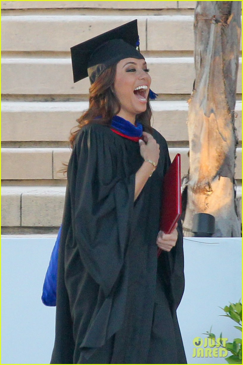 eva longoria graduates with a masters degree from csu 02