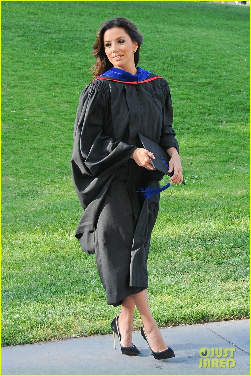 eva longoria graduates with a masters degree from csu 22