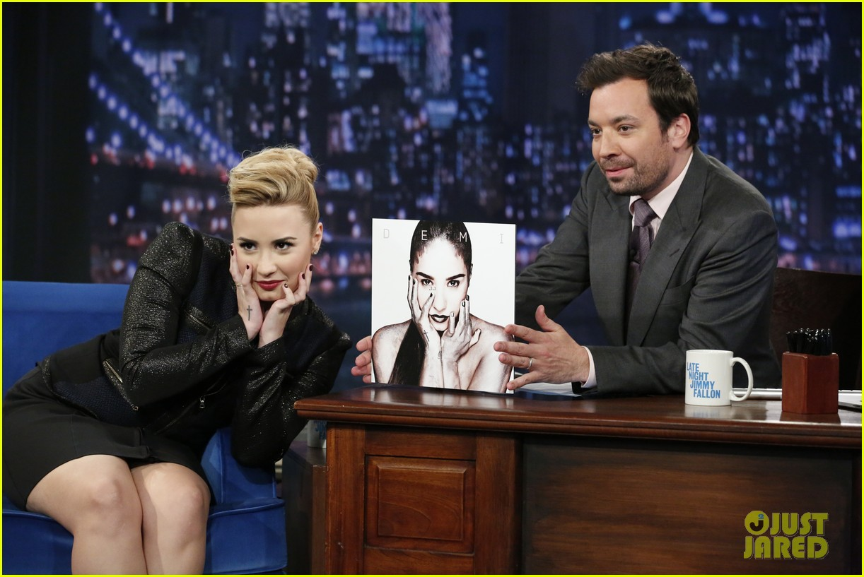 demi lovato promotes demi on late night with jimmy fallon 022871544