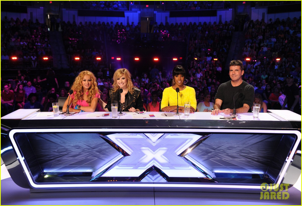 demi lovato kelly rowland x factor season 3 panel pics 012875904