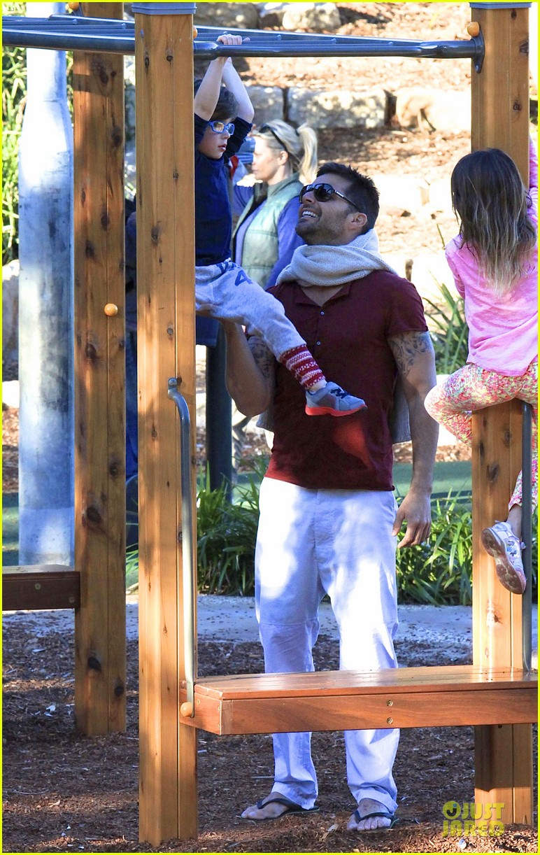 ricky martin bronte park with the twins 162875133