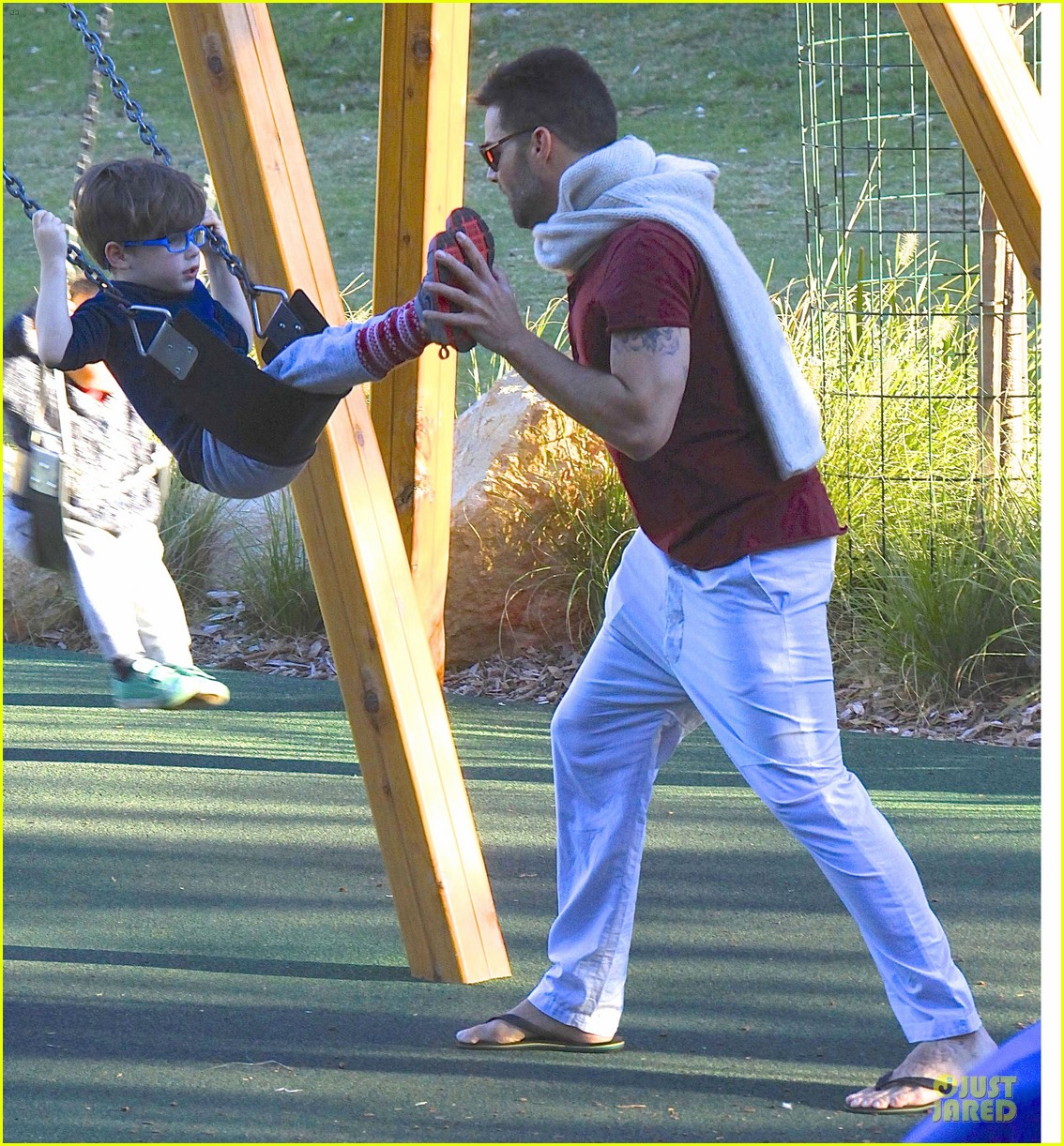 ricky martin bronte park with the twins 22