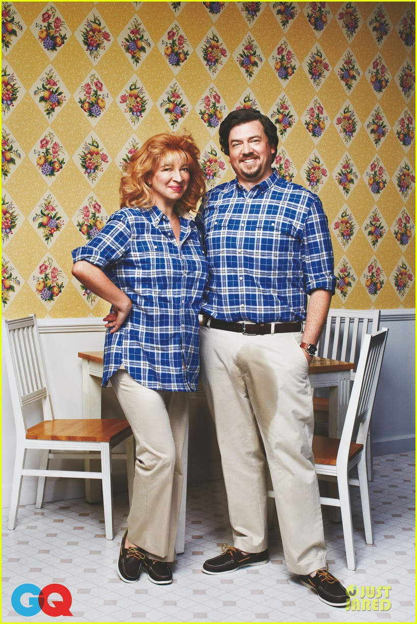 maya rudolph danny mcbride awkward family photo for gq comedy issue 012875996