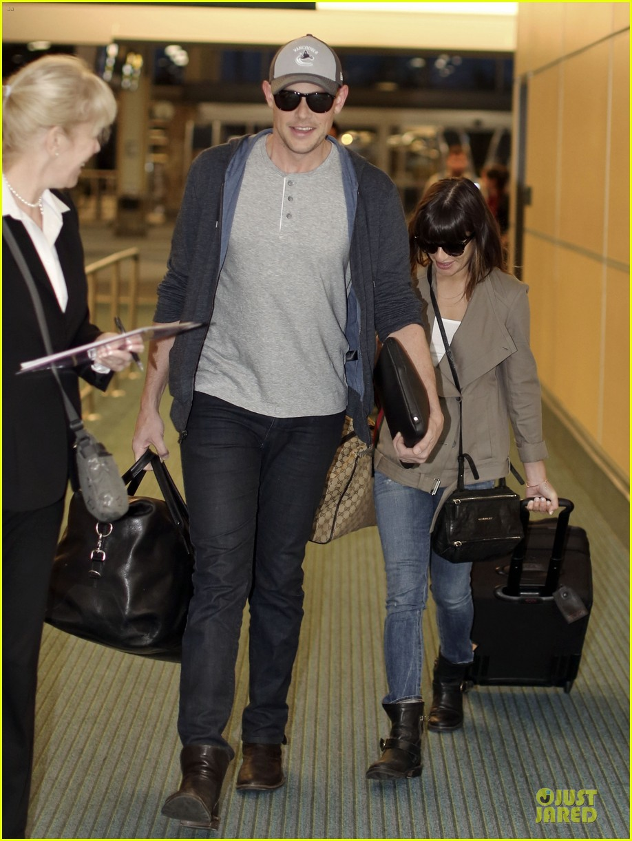lea michele cory monteith vancouver departing couple 032863473