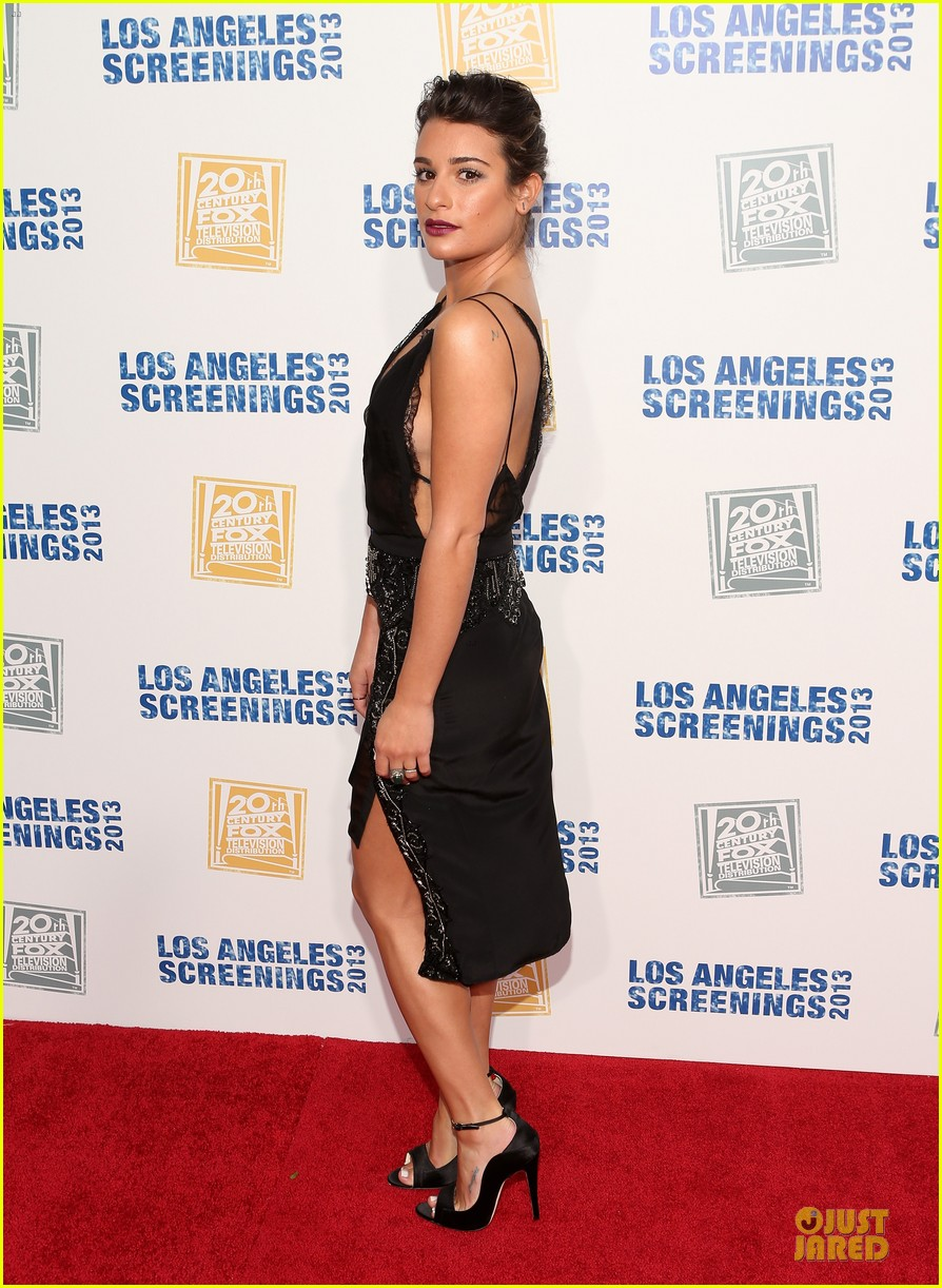 lea michele fox la screenings lot party 012877098