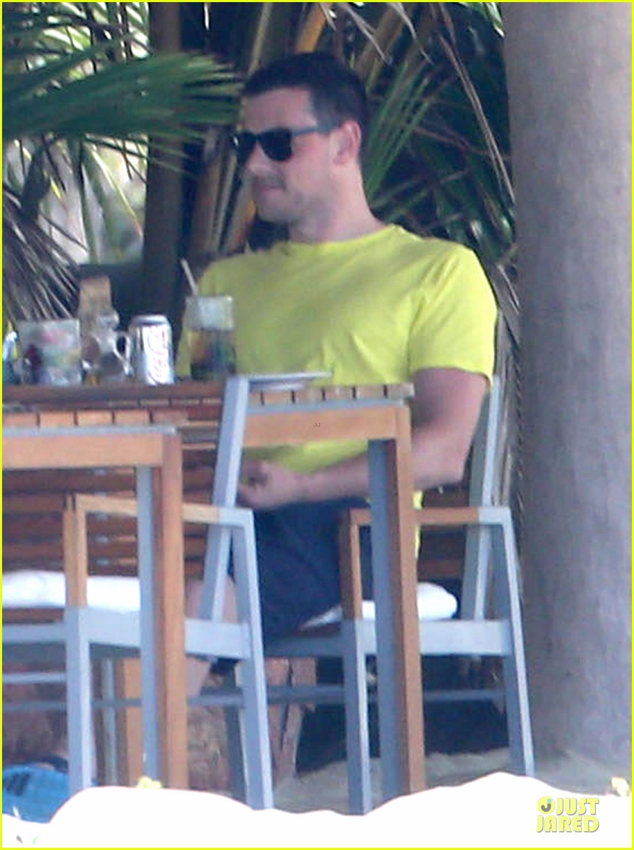 lea michele cory monteith beach lunch in mexico 122866190