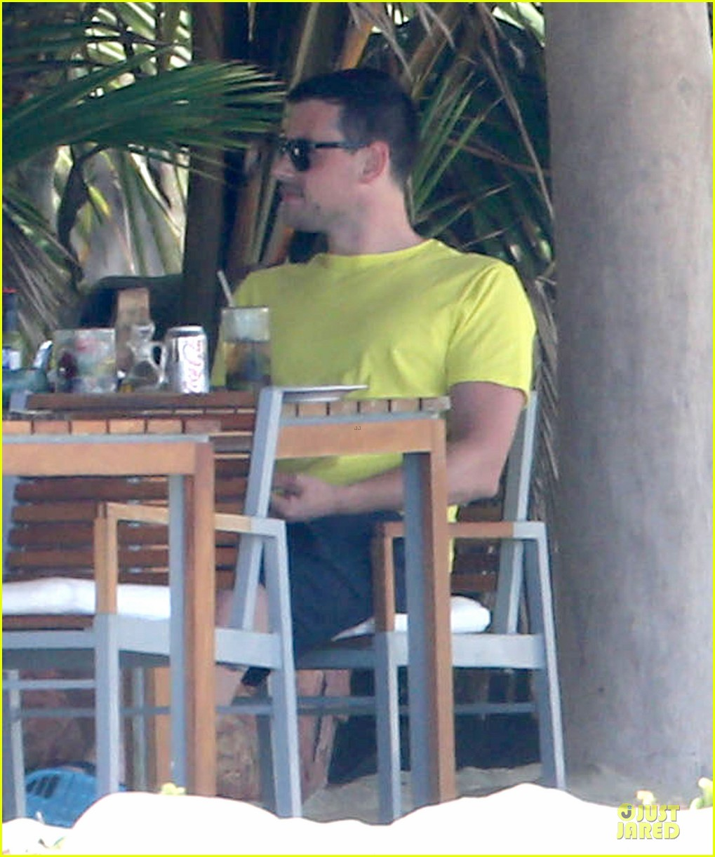 lea michele cory monteith beach lunch in mexico 142866192