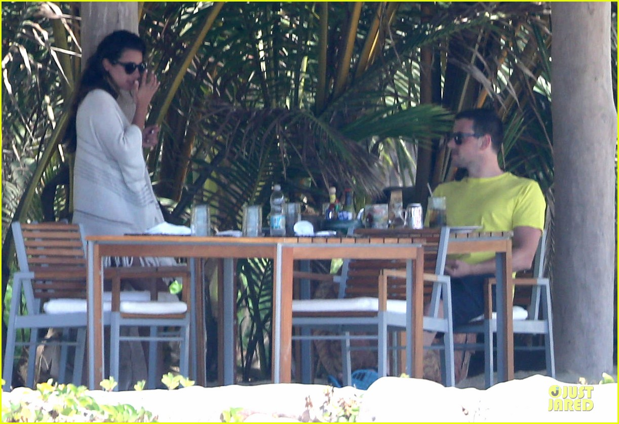 lea michele cory monteith beach lunch in mexico 152866193