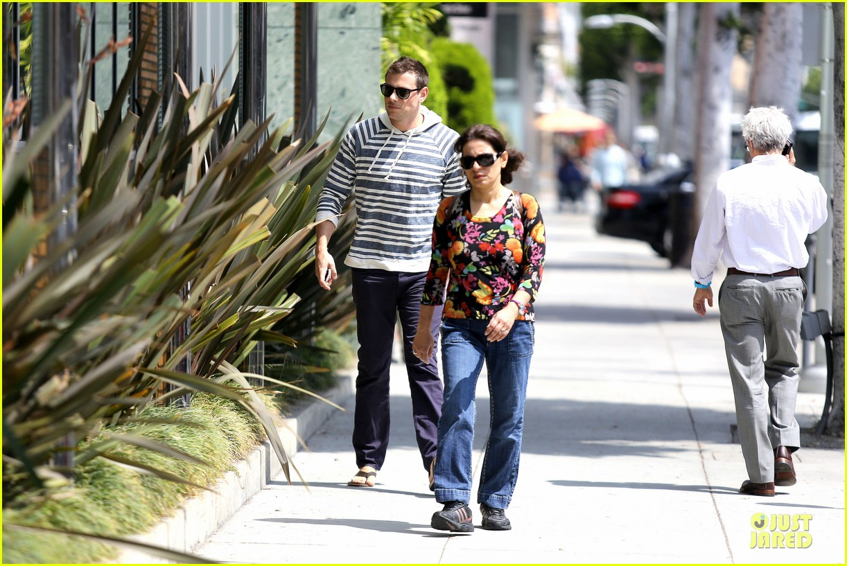 lea michele sheer grocery run cory monteith striped office meeting 09