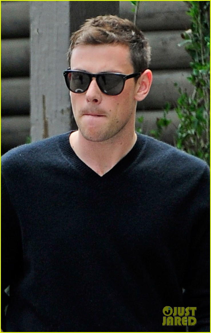 cory monteith steps out after glee creative twist revealed 022872210