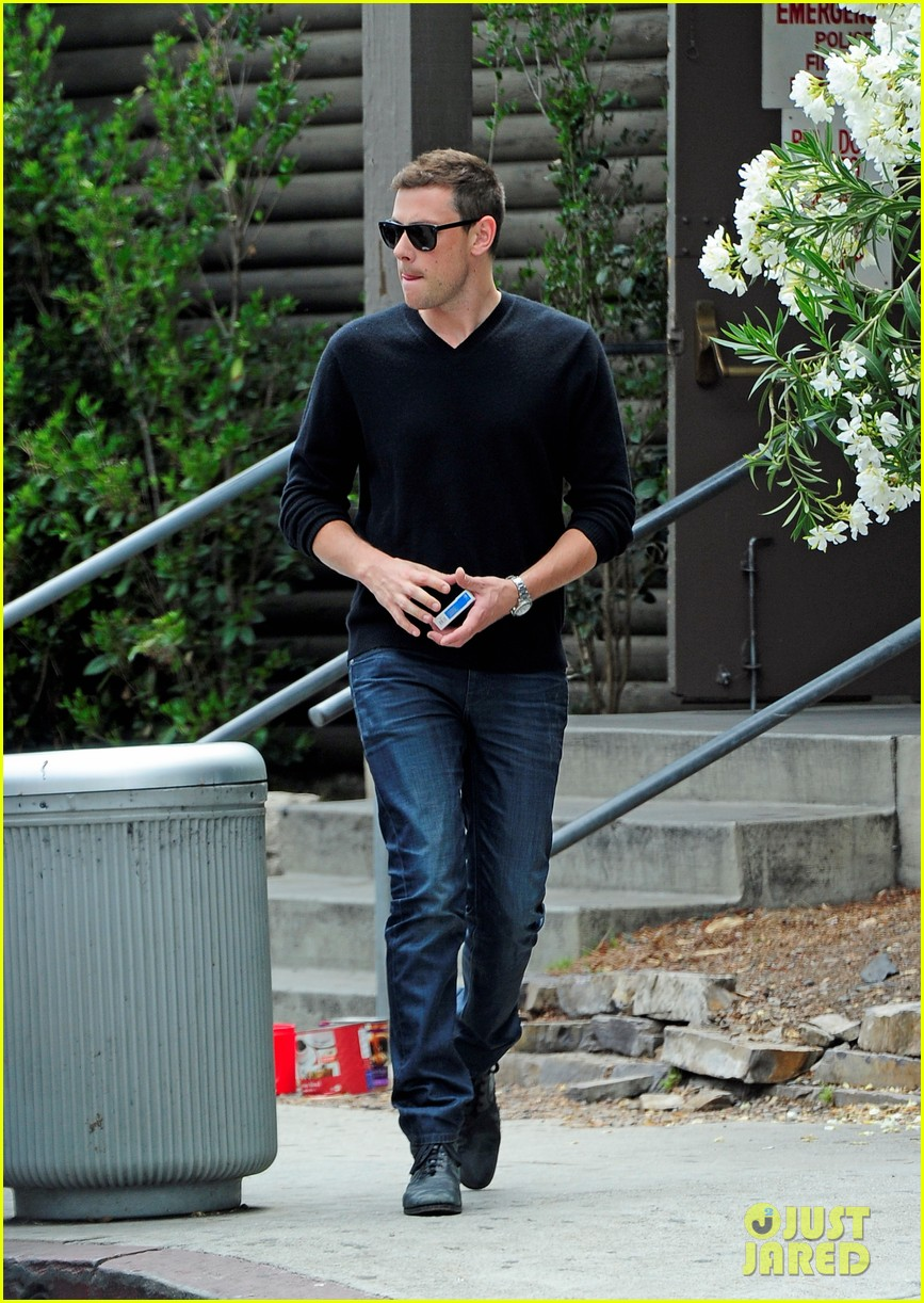cory monteith steps out after glee creative twist revealed 032872211