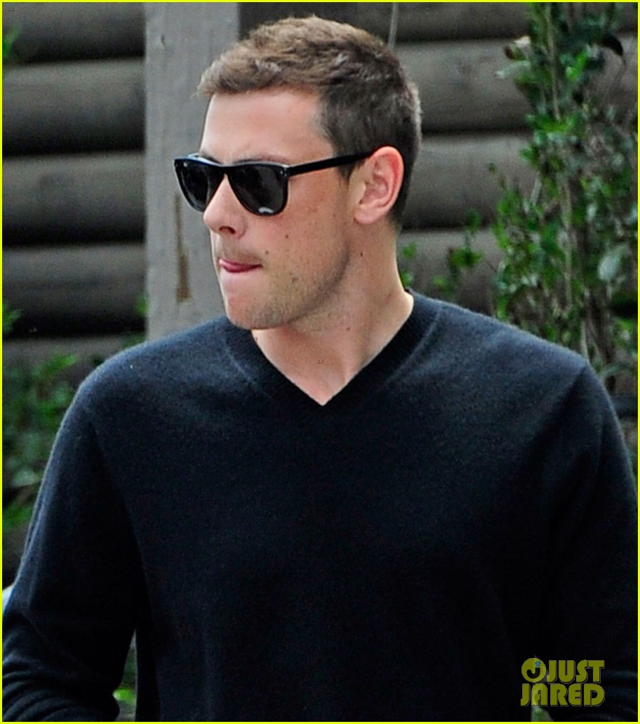 cory monteith steps out after glee creative twist revealed 042872212