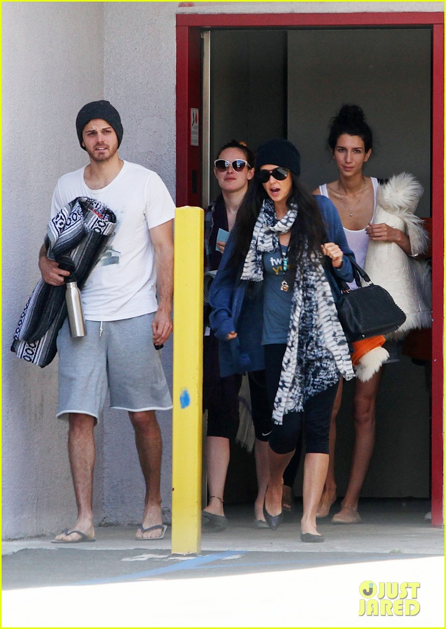 demi moore rumer willis leave yoga class together 072871009