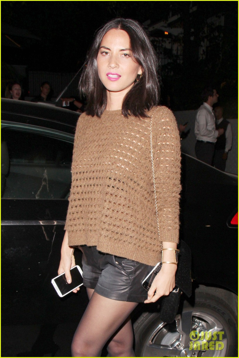 olivia munn sheer knit top at chateau marmont 022864049