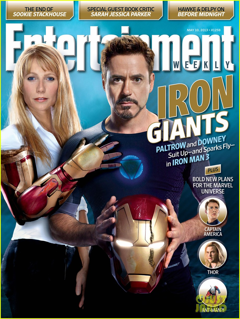 gwyneth paltrow robert downey jr cover ew iron giants issue 012862362