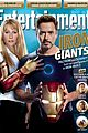 gwyneth paltrow robert downey jr cover ew iron giants issue 01