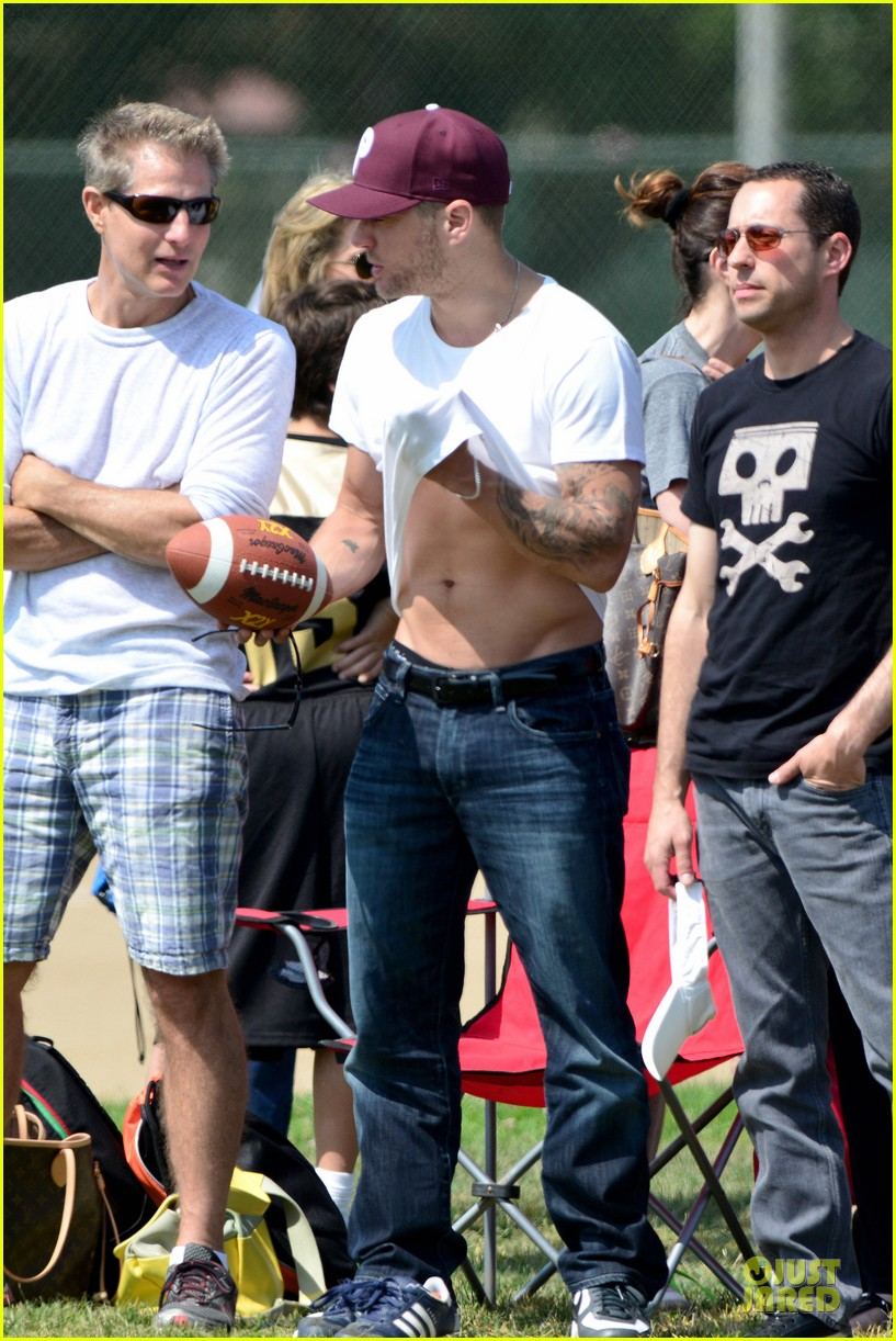 ryan phillippe abs flashing at deacon football game 032863591
