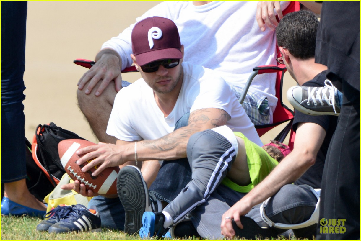 ryan phillippe abs flashing at deacon football game 102863598