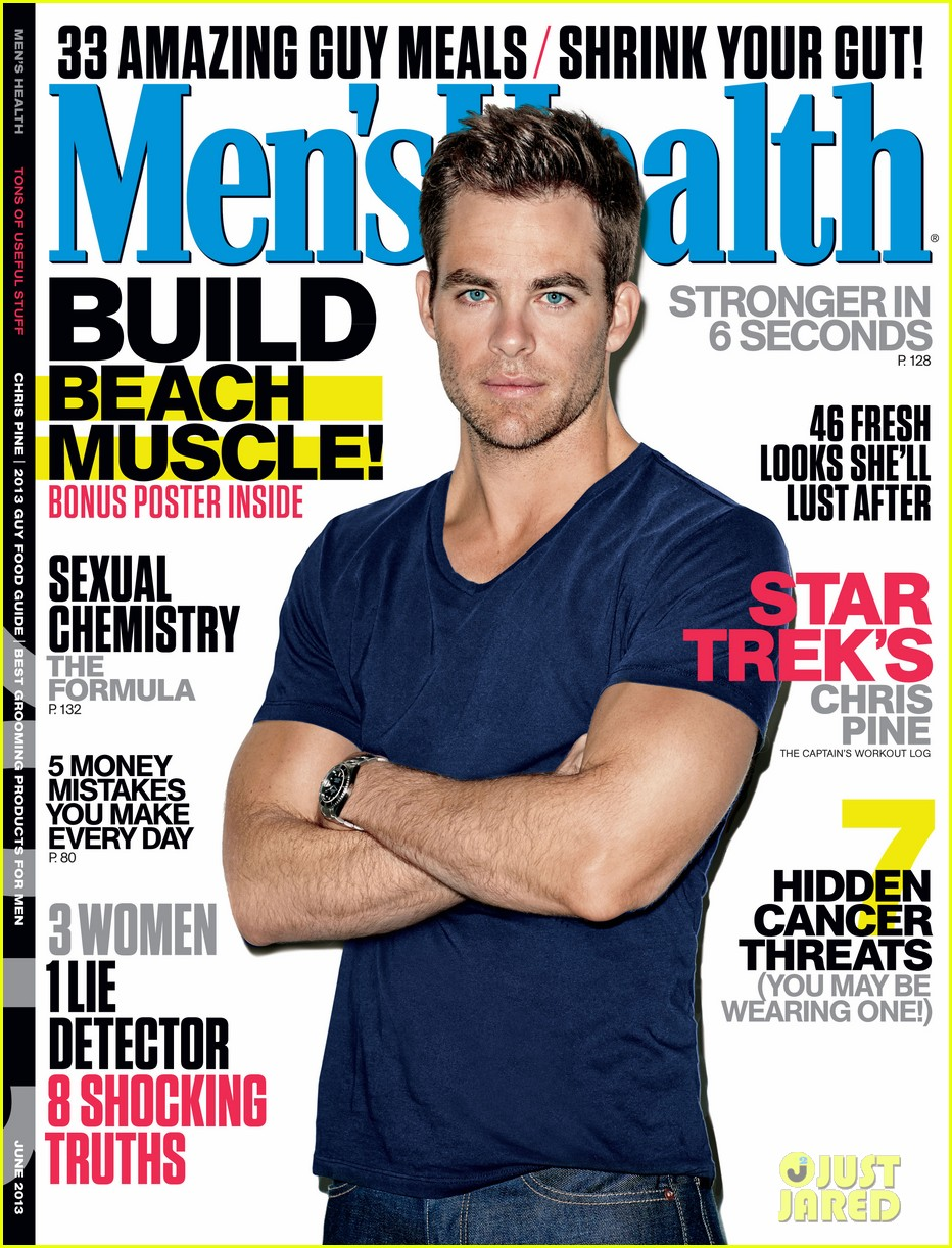 chris pine covers mens health june 2013 032869529