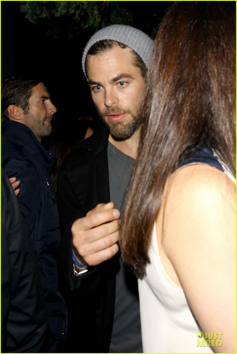 chris pine hold hands with mystery gal at bootsy bellows 242877886