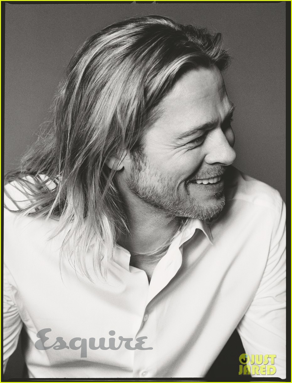brad pitt to esquire i havent known life to be any happier 022875010