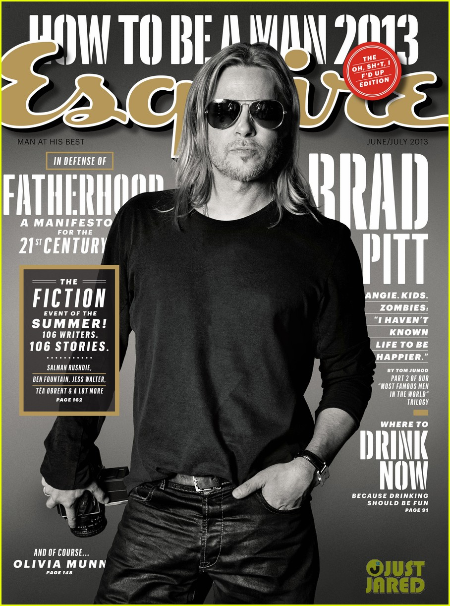 brad pitt to esquire i havent known life to be any happier 052875013