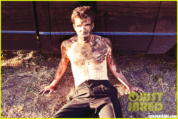 zachary quinto shirtless muddy for tyler shields photo shoot 032865900