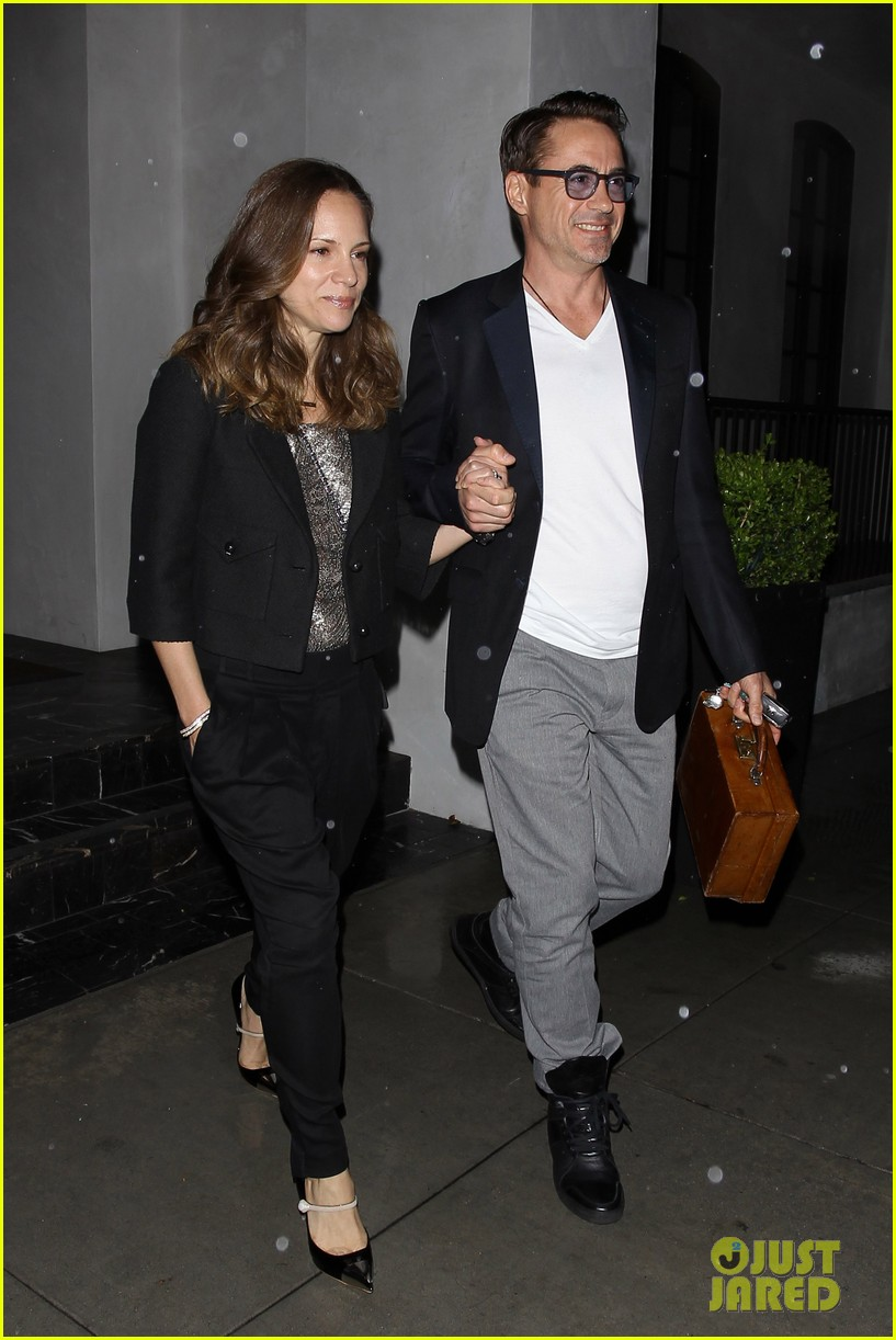 robert downey jr wife susan spago date night 052866416