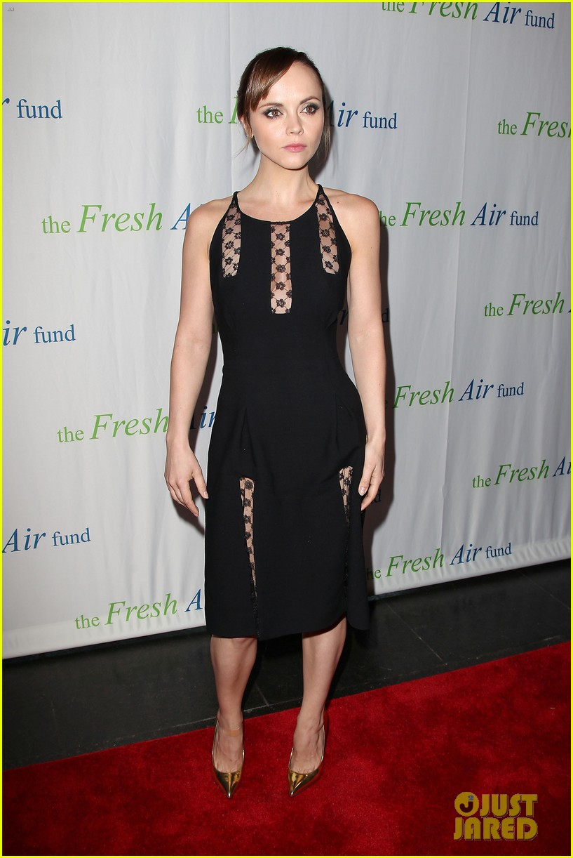 christina ricci fresh air fund event with victor cruz 122881080