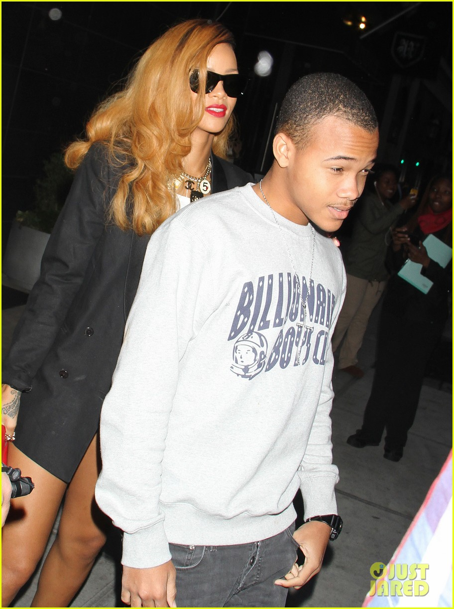 rihanna spends day with favorite guy brother rajad 062867845