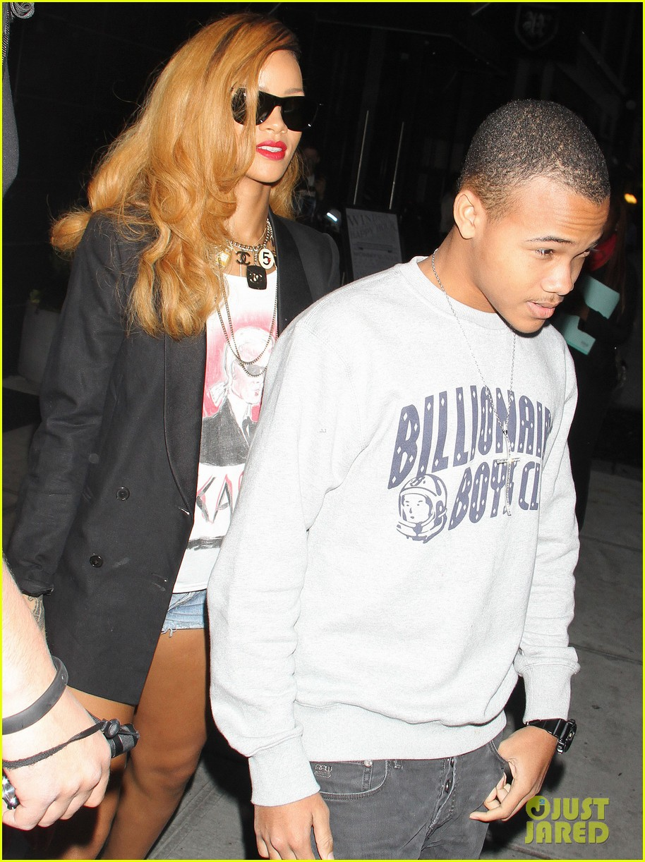 rihanna spends day with favorite guy brother rajad 072867846
