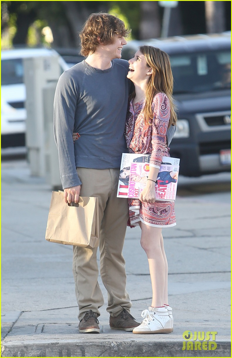 emma roberts evan peters loved up in la 072880568