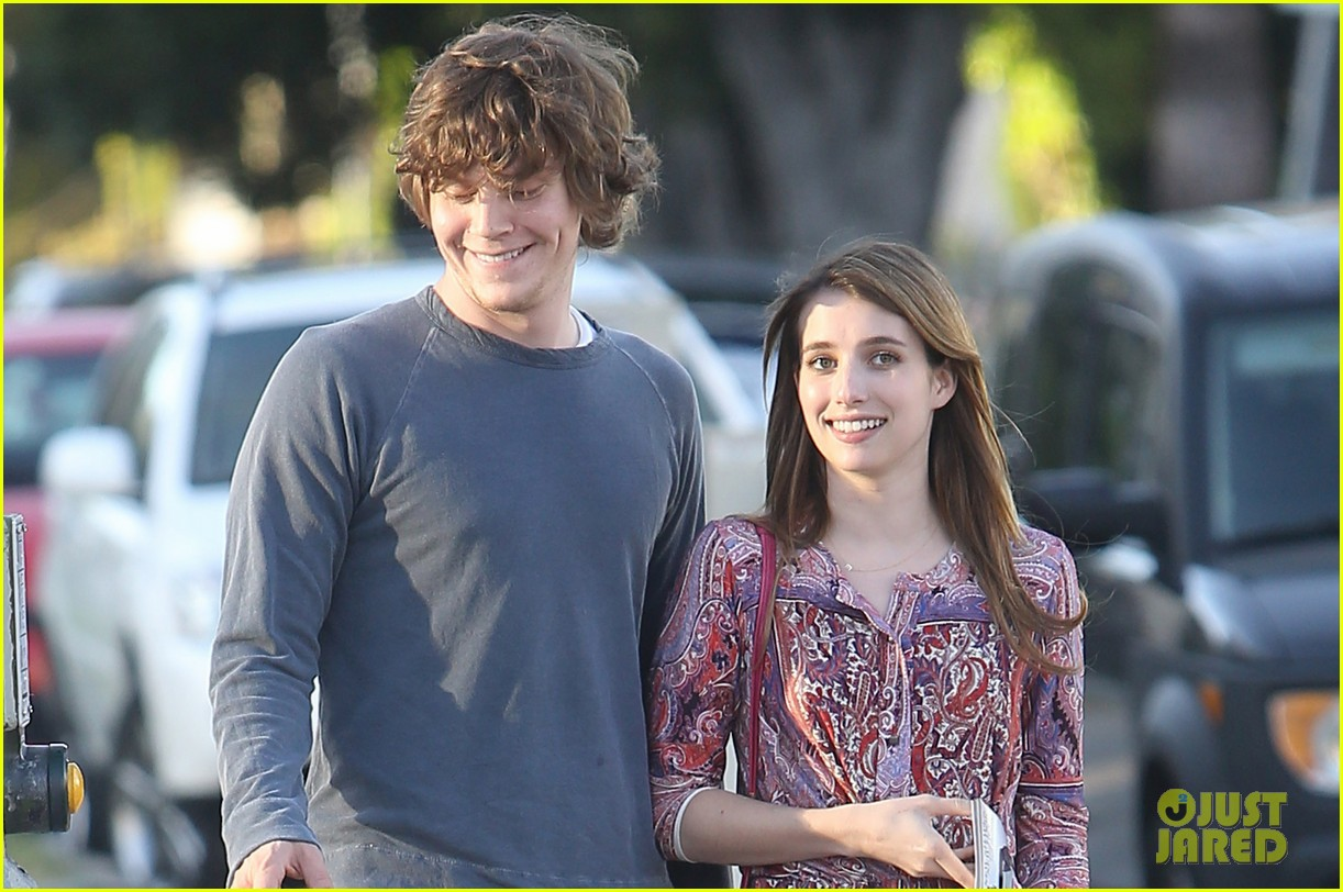emma roberts evan peters loved up in la 102880571