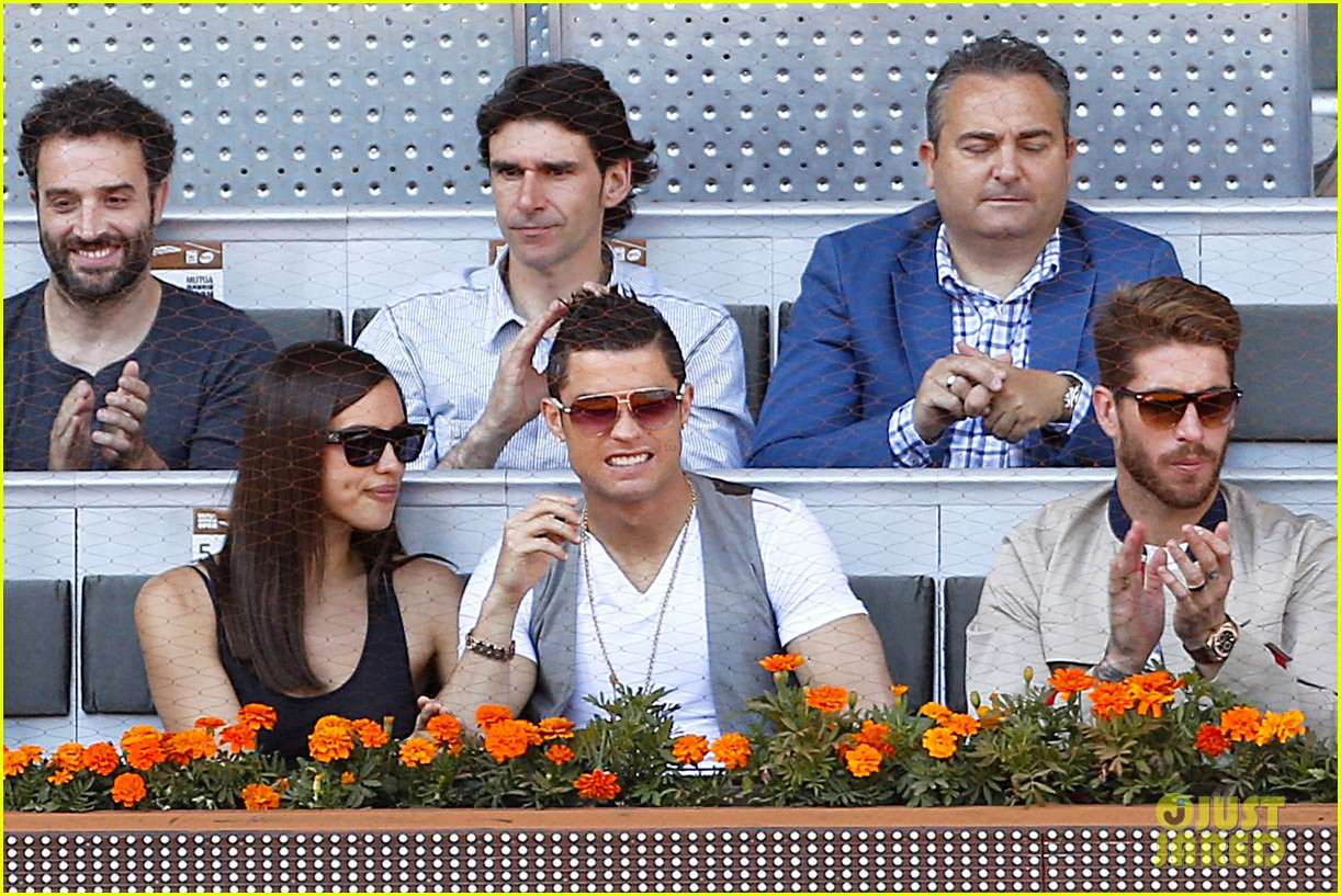 cristiano ronaldo irina shayk madrid open game after xti event 16