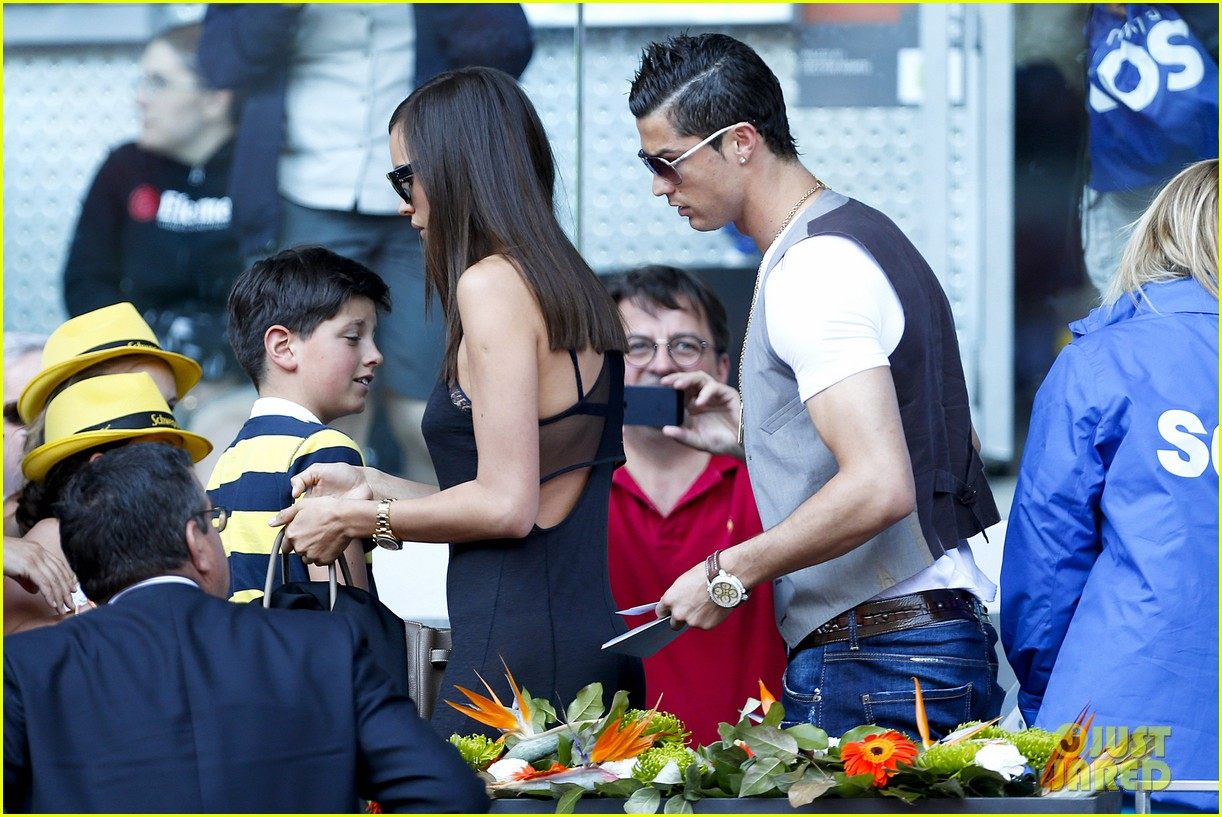 cristiano ronaldo irina shayk madrid open game after xti event 192867906