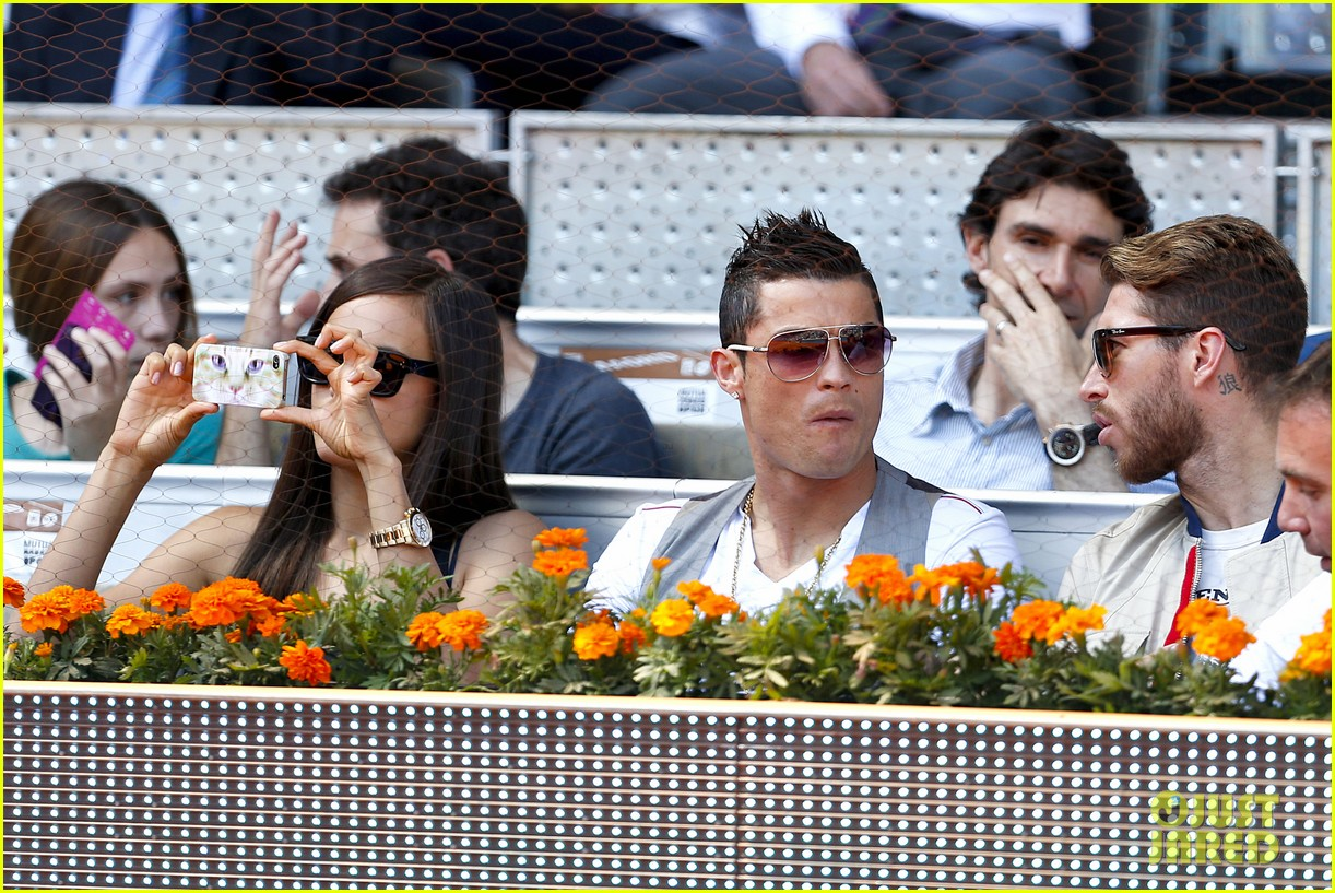 cristiano ronaldo irina shayk madrid open game after xti event 242867911