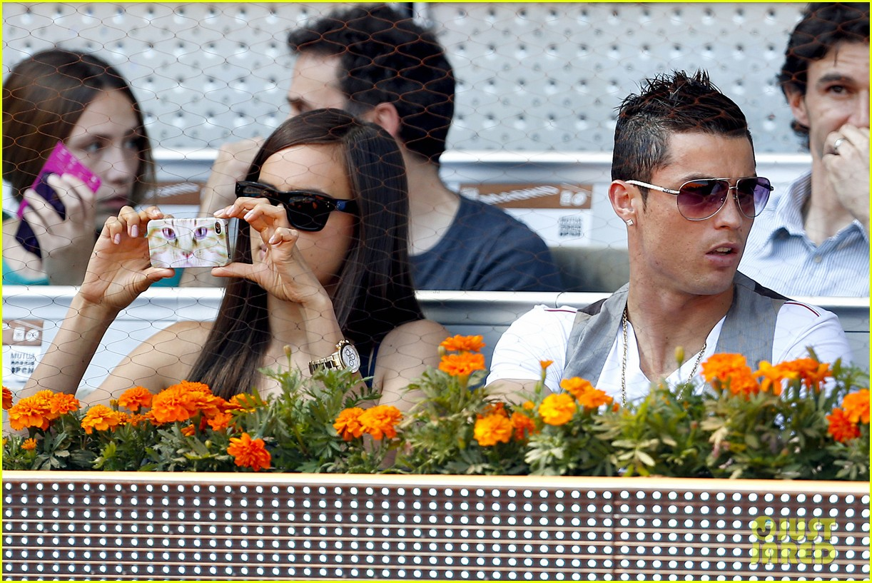 cristiano ronaldo irina shayk madrid open game after xti event 252867912