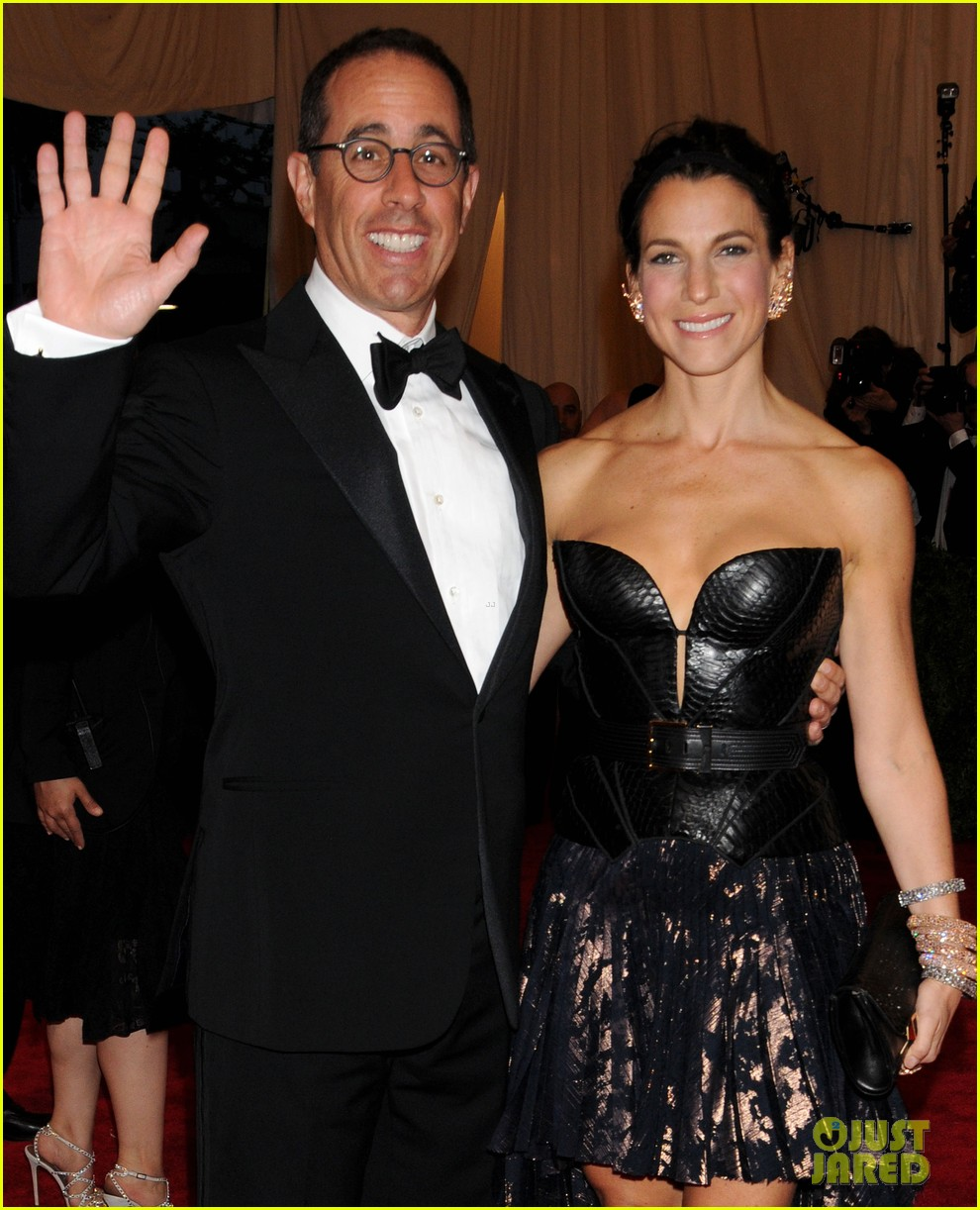 jerry seinfeld met ball 2013 red carpet with wife jessica 022865933
