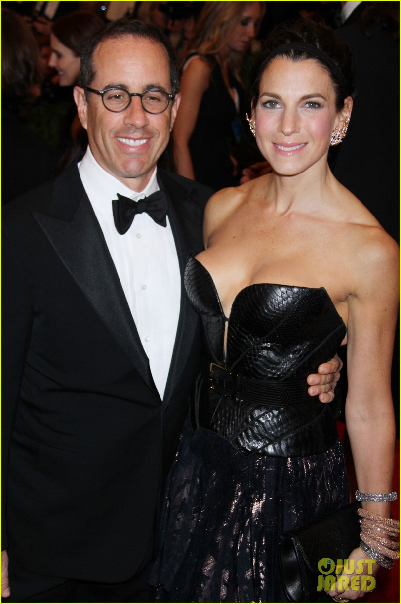jerry seinfeld met ball 2013 red carpet with wife jessica 042865935