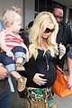 jessica simpson baby bumpin lax return 12
