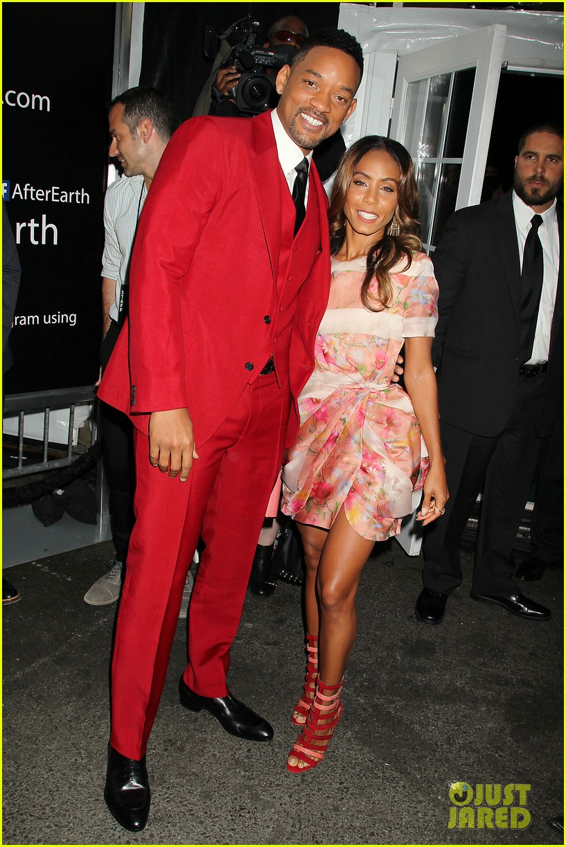 jada will smith after earth premiere with willow jada trey 012880262