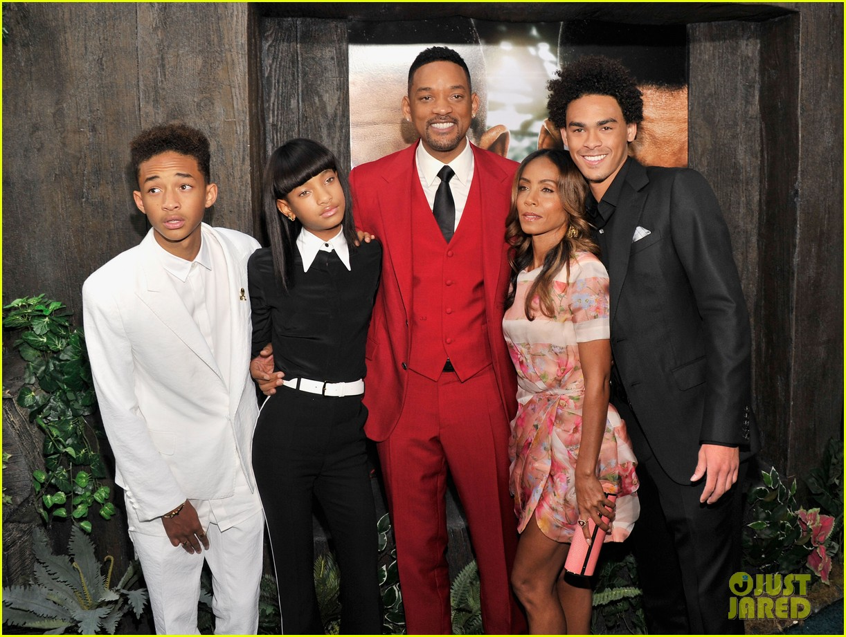 jada will smith after earth premiere with willow jada trey 162880277
