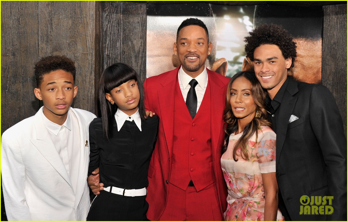 jada will smith after earth premiere with willow jada trey 172880278