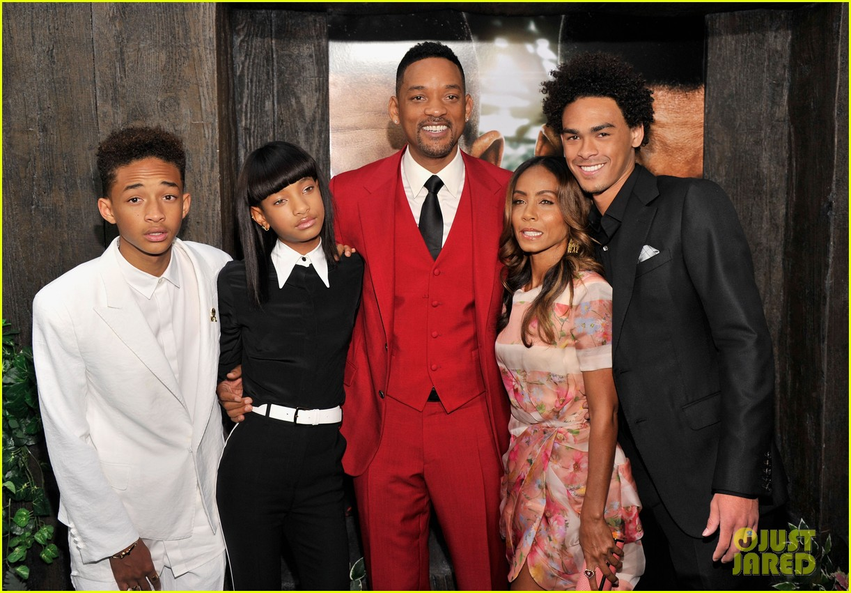 jada will smith after earth premiere with willow jada trey 182880279