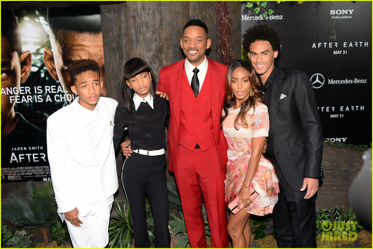 jada will smith after earth premiere with willow jada trey 232880284