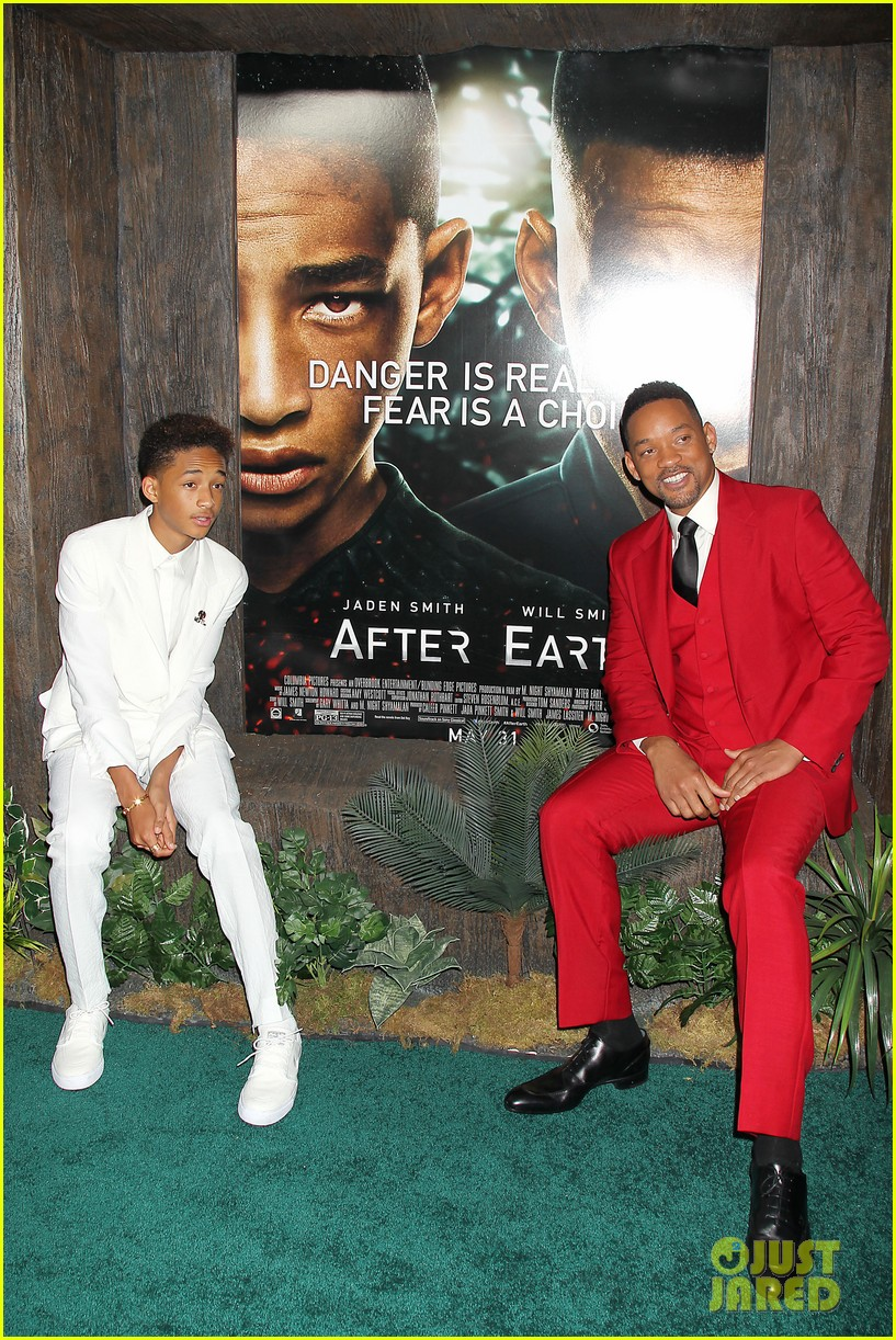 jada will smith after earth premiere with willow jada trey 292880290